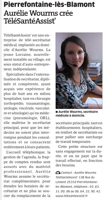 Est-Républicain-Aurélie-Wourms-TéléSantéAssist'
